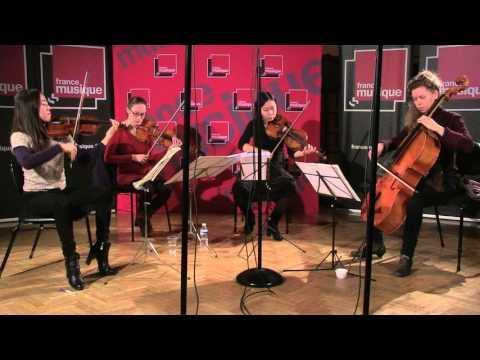 Bach : Aria des Variations Goldberg par le Quatuor Ardéo