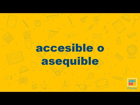 accesible o asequible