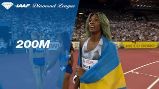 Shaunae Miller-Uibo sets a 200m Diamond League Record in Zurich - IAAF Diamond League 2019