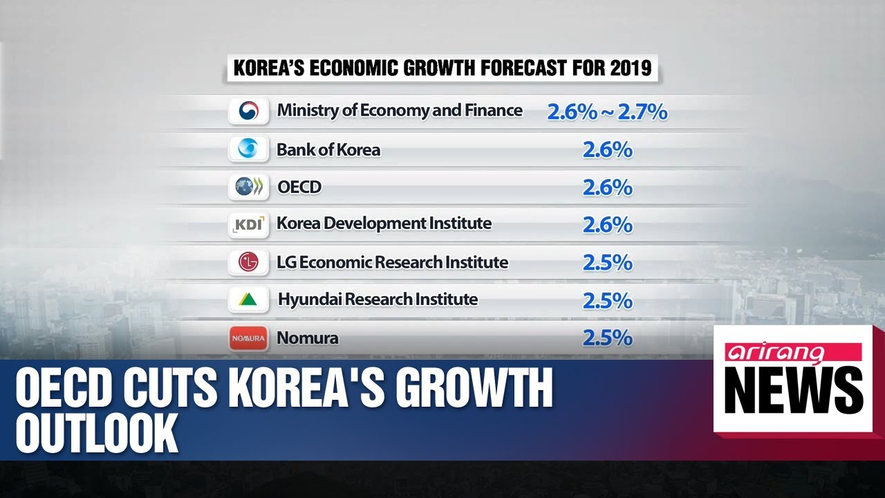 OECD cuts S  Korea's growth outlook to 2 6% for 2019