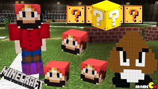 SUPER MARIO Minecraft Mod Challenge One Command Block Lucky Blocks Goombas!