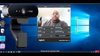 Configuring the Logitech Brio Webcam 4K Ultra HD in Windows 10