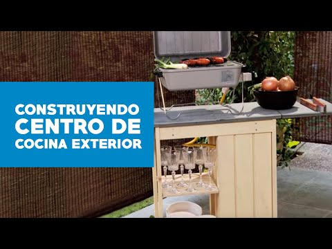 Cmo construir un centro de cocina exterior  YouTube