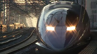 ジェット機のような500系新幹線 こだま Japanese bullet train Shinkansen Series 500
