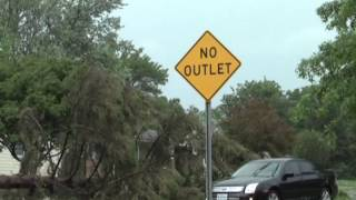 Raw storm damage video in Kirksville Mo near McPherson Street