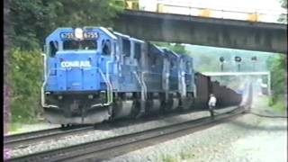 Locomotive trouble stops ore train on mainline. Greensburg, PA. Please read!!!