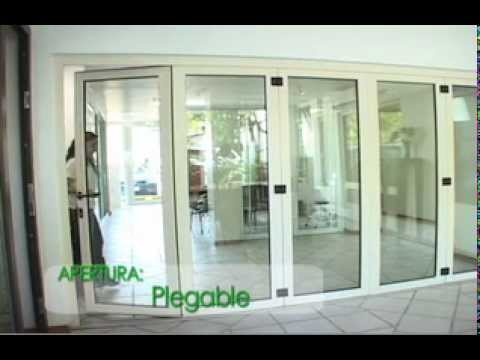 Puerta de pvc en monterrey smartenergy plegable youtube - Puertas plegables de aluminio ...