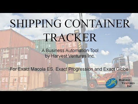 Container Tracking Utility for Exact Macola by Harvest Ventures Inc