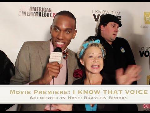 DEBI DERRYBERRY Voice of Jimmy Neutron & more Interviews at I Know that Voice movie premiere