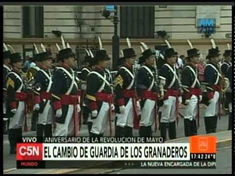C5N - SEMANA DE MAYO: EL CAMBIO DE GUARDIA DE LOS GRANADEROS