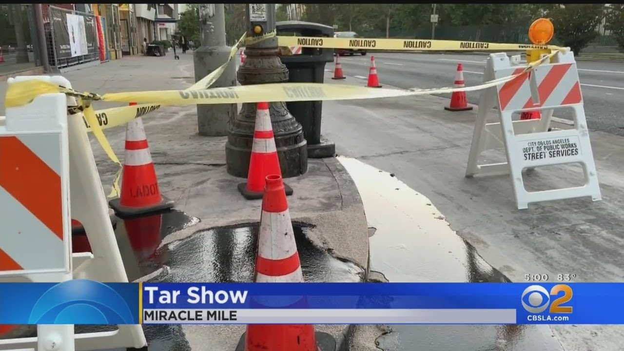 Tar Continues To Ooze Up On Streets Near La Brea Tar Pits