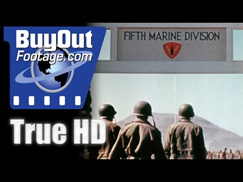 Iwo Jima - 5th Marine Division HD Stock Footage