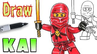 How to Draw Ninjago Kai - LEGO - Coloring Pages