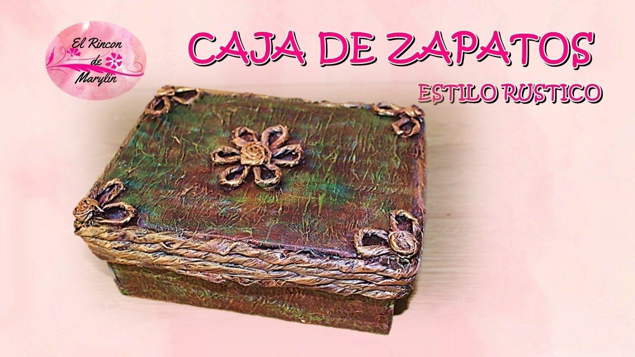 Diy como decorar caja de zapatos estilo rustico youtube - Decorar cajas de zapatos ...