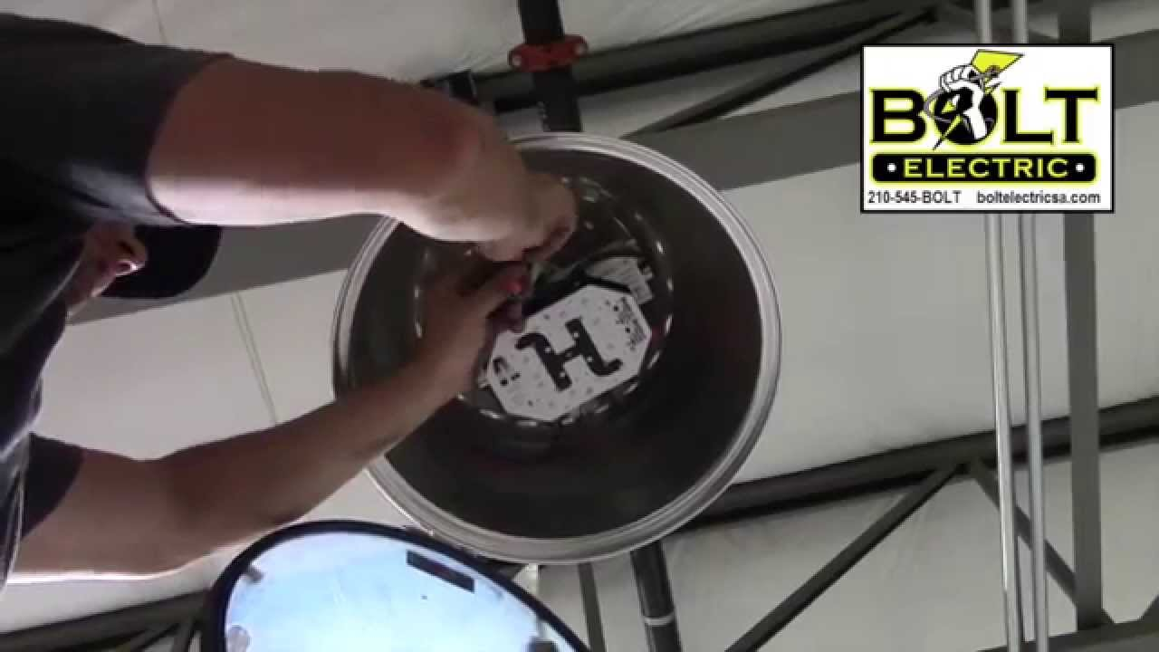 Installing A Led Retrofit In High Bay Metal Halide Light Fixture 480 Volt Wiring Diagram Http Boltelectricsacom Youtube