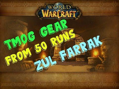 Tmog Gear from 50x Zul Farrak Runs - World of Warcraft