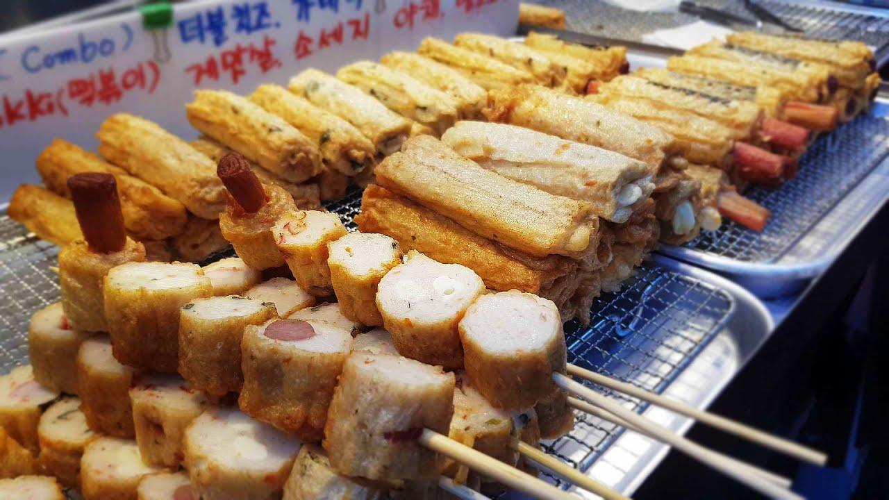 남대문시장 명물 즉석 수제 핫바 / 떡볶이 / 길거리음식 / Korean Street Food / Hotbar