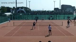 全日本ソフトテニス天皇杯皇后杯2015 男子一回戦 玉沢伊藤ー櫻田木村