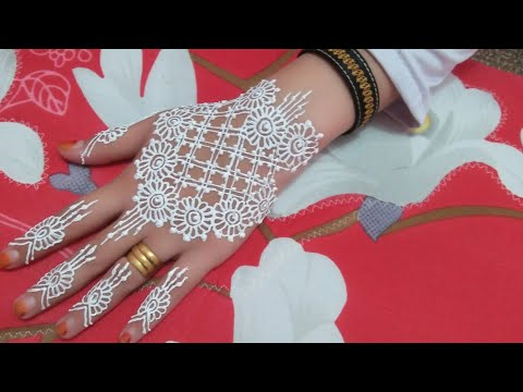 Simple White Henna Motif Tutorial Henna Part 2