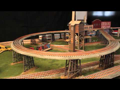 Lionel Weathered FasTrack 10 x 5 Layout