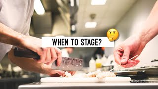 Is it better to Stage early or late in your career?