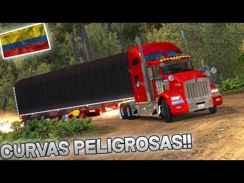LAS CURVAS MAS PELIGROSAS DE COLOMBIA!!!   KENWORTH T800   AMERICAN TRUCK SIMULATOR