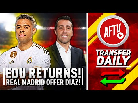 edu-returns-&-real-madrid-striker-offered-to-arsenal!-|-aftv-transfer-daily