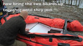 how to assemble an inflatable boat with hard floor