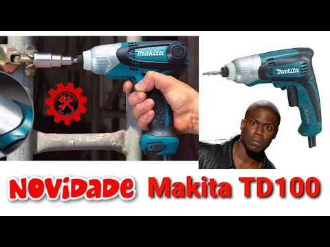 Parafusadeira de impacto com fio Makita TD0100 - 230watts/100Nm