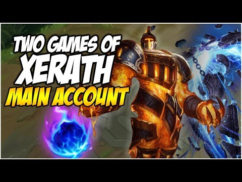2 XERATH GAMES, ONE VIDEO - Climb to Master S8   League of Legends