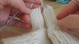 Вяжем варежку Урок 8   knit mitten