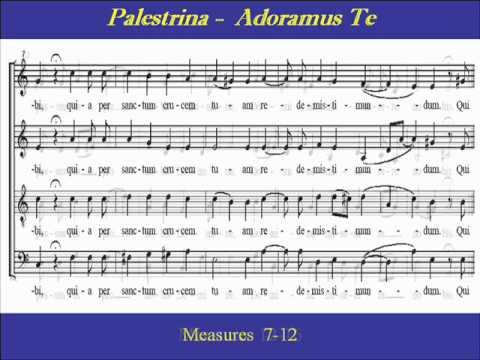 Palestrina  Adoramus Te  Bass  Scorewmv