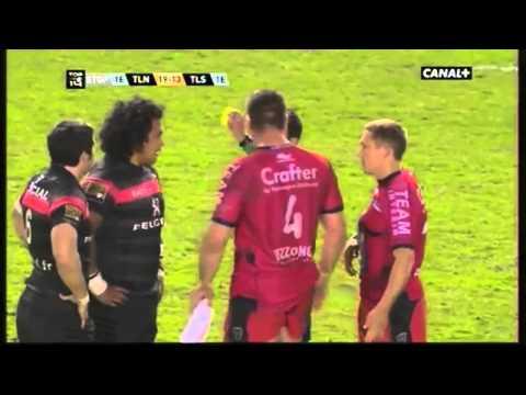 Bagarre Bakkies Botha vs Census Johnston lors de Toulon-Toulouse