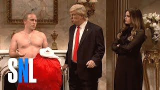 Donald Trump Christmas Cold Open - SNL(President-elect Donald Trump (Alec Baldwin) receives a surprise visit from Vladimir Putin (Beck Bennett) and Rex Tillerson (John Goodman). Get more SNL: ..., 2016-12-18T08:31:20.000Z)