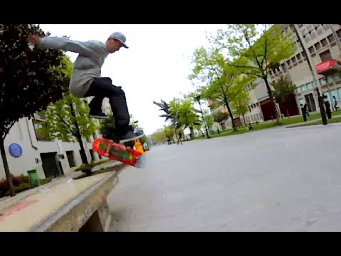 FRONTSIDE BOARDSLIDE NOLLIE BIGGER HEEL OUT!?! Arturas Jendovickis
