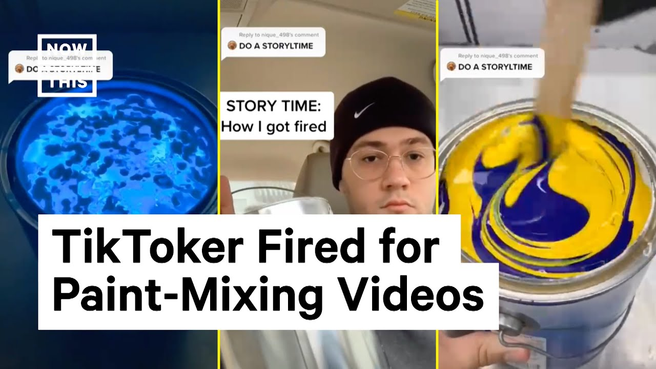 TikToker Fired for Viral Paint Mixing Videos Gets New Job | NowThsi