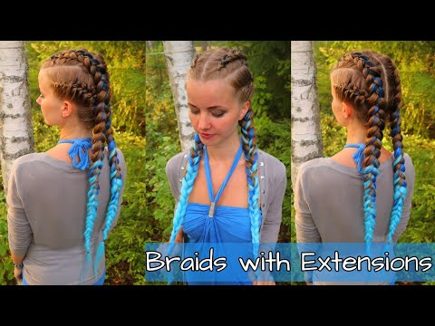 Braids with Extensions | Dutch- & French Braids with Kanekalon Hair | Easy Hairstyle thumbnail