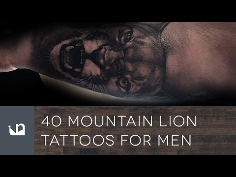 40 Mountain Lion Tattoos For Men