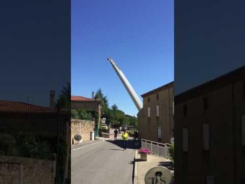 Transport des éoliennes à Saint-Georges les Bains