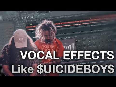 FL Studio 12 - How to record Vocals like $UICIDEBOY$ - Vocal Dubbing