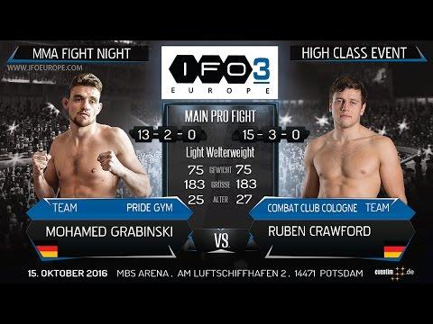 IRON FIGHTERS 3 O. -Titel Fight - MOHAMED GRABINSKI Vs. RUBEN CRAWFORD - MAIN EVENT !