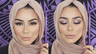 Acne Scar Coverage | Purple Shimmer + Flawless Skin Tutorial