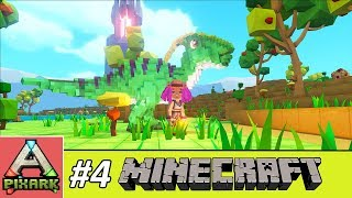 PIXARK - Minecraft Ark #4 - Taming Parasaurus - Thuần Hóa Khủng Long Ăn Cỏ