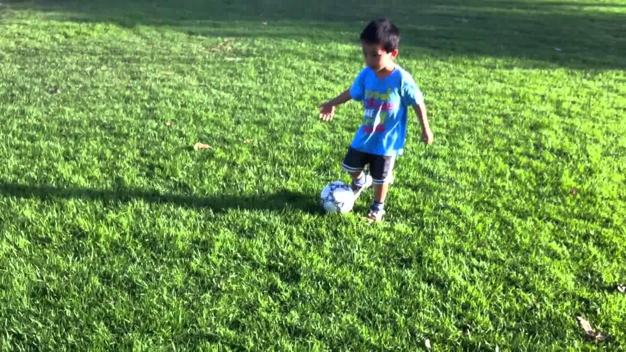 Toddler Kicking Ball Youtube