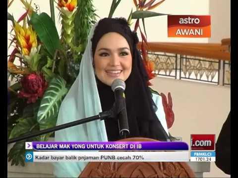Siti Nurhaliza belajar Mak Yong untuk konsert di IB