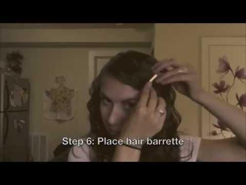Easy 1930s Finger Waves For Long Hair Youtube