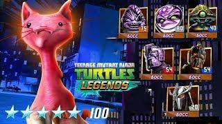 Черепашки-Ниндзя: Легенды -  САМЫЙ СИЛЬНЫЙ ПЛАТИНОВЫЙ ПЕРСОНАЖ ПРОТИВ БОССОВ (TMNT Legends UPDATE X)
