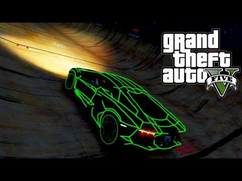 GTA 5 PC Mods - HUGE MODDED STUNT RAMPS w/ NEON LAMBO CAR MOD! (GTA 5 Mods)