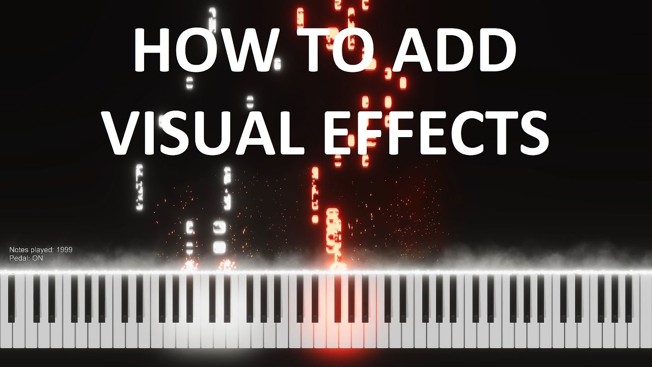 Download How to make piano videos with visual effects for free (quick tutorial).