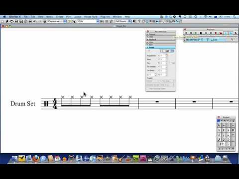 Sibelius Tutorial: Drum parts from scratch